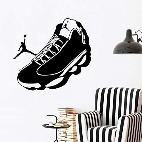 Muurtattoo voetbalschoenen 42x39cm wandafbeelding van de stickers, affiche, hoofdbehang-slaapkamer-woonkamer-keukenhoofd-decoratie