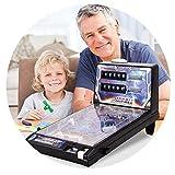 QHW Máquina de Pinball electrónica, Juego de Mesa de Escritorio, máquina de Pinball de Rompecabezas para niños, máquina de Pinball de conteo de música Ligera, Regalos de Fiesta de cumpleaños