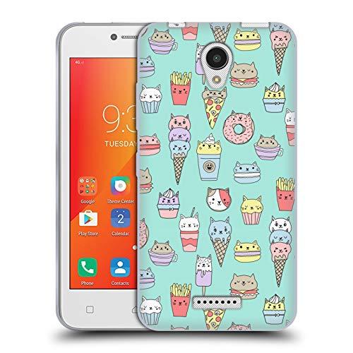 Officiële Andrea Lauren Design Kattenvoer Voedsel Patroon Soft Gel Case Compatibel voor Lenovo A Plus