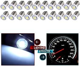 cciyu 20X BA9S LED Instrument Cluster Gauges Ash Tray Glove Box Light Bulbs 17053 53 53X 57 216 293 363 3886X 3893 6253 White