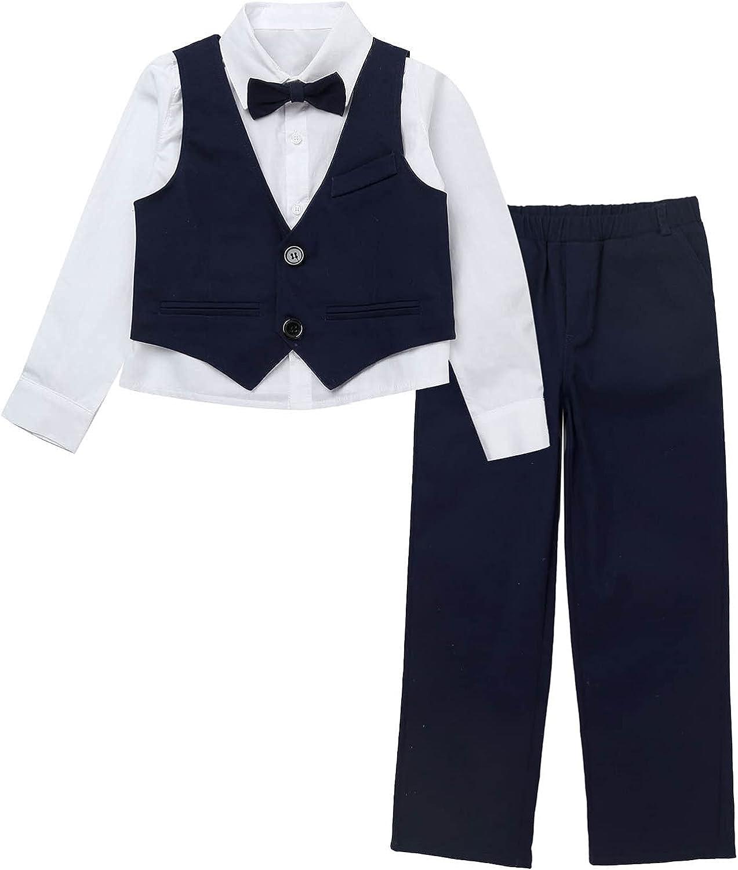 JEEYJOO Kids Boys 3PCs New mail order Formal Birthday Wholesale Dresswear S Wedding Party