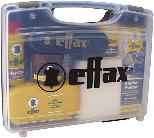 Effax Leder Pflege Koffer mit Stiefelpolitur, Ledergrip, Balsam, Ledercombi