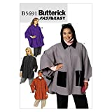 BUTTERICK PATTERNS B5691 Women's Cape and Jacket, Size KK (26W-28W-30W-32W)