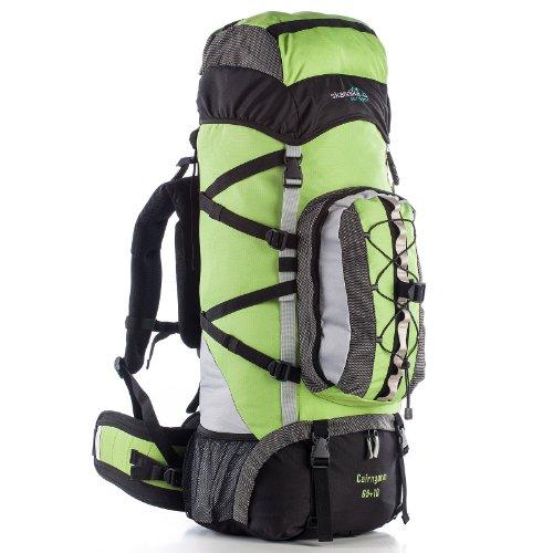 skandika Cairngorm 65+10 Sac à Dos Trekking randonnée Marche Noir/Vert