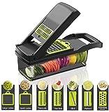 gemüseschneider manuell Smart Vegetable Slicer,7 in 1 Mandolin Einstellbare Gemüseschneider Zwiebel Chopper mit großen Container Schneiden Gemüsekäse Obst schnell und gleichmäßig, Gemüsegläser