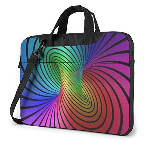 Estuche de Manga para computadora portátil con gráficos Abstractos Coloridos, Bolso de Mano para computadora de 13 Pulgadas, maletín de Mensajero de Hombro para Viajes de Negocios