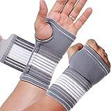Protège-poignet et soutien paume (1 Paire) de marque Neotech Care - Compression AJUSTABLE - Support main droite ou gauche - Ultra léger, élastique et respirant (Taille L)