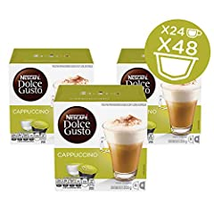 Rich Espresso: The Espresso Is a Dark Italian Style Roast of a 100 Percent Arabica Blend From South America Blended With Beautifully Frothed Whole Milk and Dolce Gusto Capsules Are Only Designed for Use With Dolce Gusto Machines Italian Icon: The Ric...