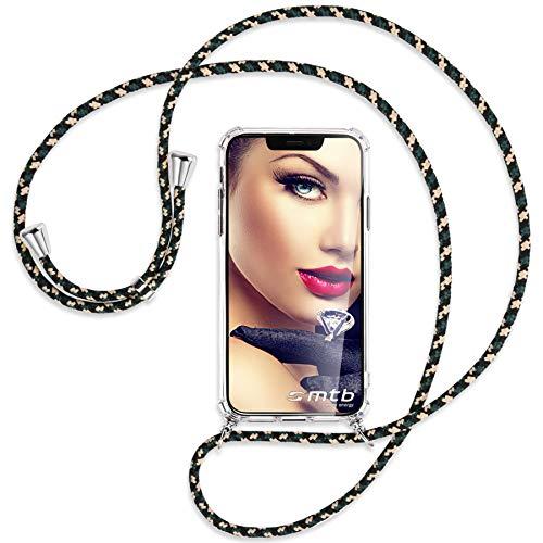 mtb more energy® Handykette kompatibel mit Sony Xperia L2, L2 Dual SIM (5.5'') - Camouflage - Smartphone Hülle zum Umhängen - Anti Shock Full TPU Hülle