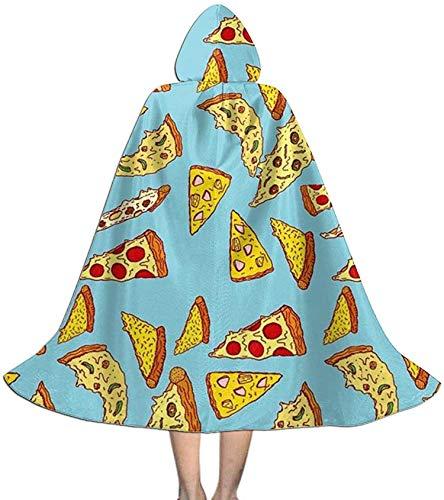 Capa de Capa para nios con Capucha Pizza Zombies Capa con Capucha Unisex Capa de Bruja Capa Larga Capa de Fiesta de Cosplay de Halloween