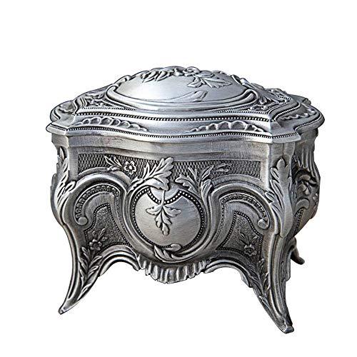 joyeros,Caja de almacenamiento de joyas de princesa alta de estilo europeo, caja de joyería de escritorio para el hogar retro de alta gama, pequeña
