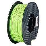 ZXC De 3D Pla Filamento Pluma Recargas 1,75 mm PrecisióN ± 0,02 100% Ninguna Burbuja De 1 kg 2,2 Libras Sin Olores Y FáCil De Pelar Filamento for La MayoríA De Impr(Color:Verde Brillante)