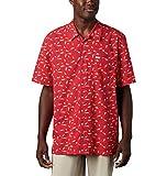 Columbia Camiseta de Manga Corta para Hombre Trollers Best Short Sleeve Shirt, Hombre, 1438984, Red Spark Americana Print, 3X