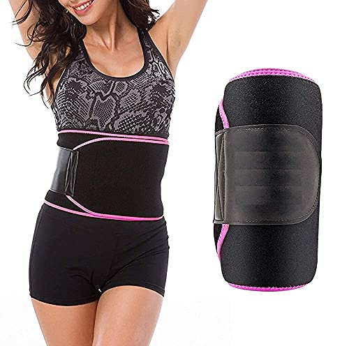 Bikart Weight Loss Hot Slimming Belt for Men , Women Belly Sweat Slim Belt Neoprene Fat Burning Sauna Waist Trainer Healthy Sweat, Weight Loss, Lower Back Posture Black Free Size