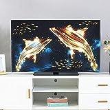 XIAOZHEN Tv Abdeckung LCD-TV-Abdeckung Goldenes Muster Staubschutz Dekorative Abdeckung Abdecken (Color : Golden Dolphin, Size : 40-43inch)