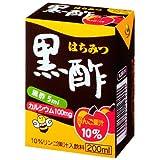 ヨーグルトン はちみつ黒酢 りんご果汁10% パック200ml