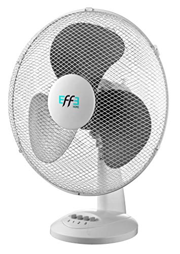 Effe Ventilatore da Tavolo 3 Pale, Diametro 40cm, 3 velocità, 40W, Oscillante