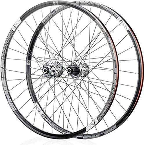 ZSY Wheels Mountain bike wheels, bike wheelset 26/29 / 27.5 inches front rear wheelset double-walled rim quick release disc brake 32 holes 4 Palin 8-11 speed (Color : Gray, Size : 29in)