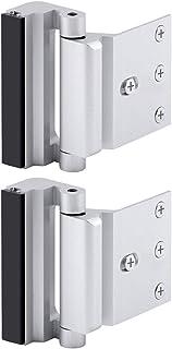 """Best Home Security Door Lock, Childproof Door Reinforcement Lock with 3"""" Stop Withstand 800 lbs for Inward Swinging Door, Upgrade Night Lock to Defend Your Home (Silver-2 Pack) Review"""