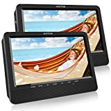 WONNIE 10.1' Reproductor de DVD Portátil con 2 Pantallas para Reposacabeza de Coche para Niños en Viaje Compatible con Tarjeta SD y USB con Mando a Distancia