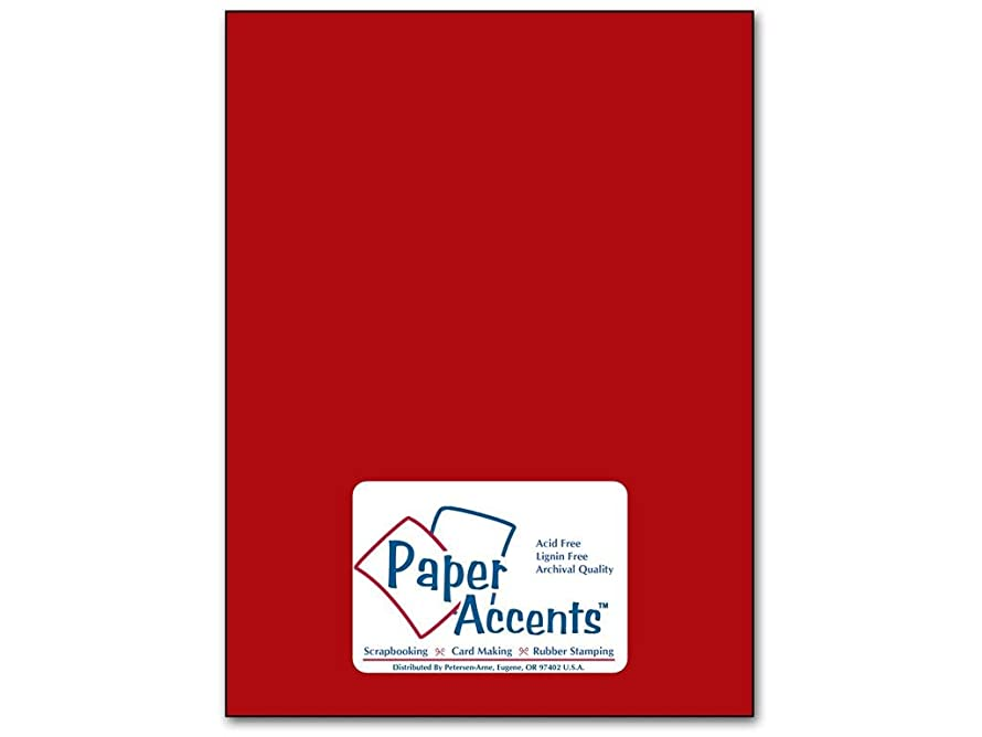 Accent Design Paper Accents Cdstk Smooth 8.5x11 74# Schoolhouse Red