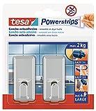 tesa 58051-00011-01 58051-00011-01-Ganchos L Classic Blanco Powerstrips hasta 2 kg