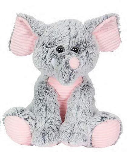 Kelly Toy 18-042L 21 inch / 52 cm Grey & Pink 2 Tone Elephant Soft Plush Toy / Grijs en Roze Tweekleurige Olifant Zachte Knuffel