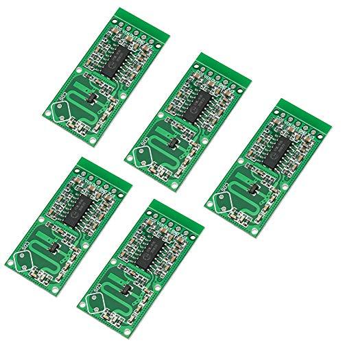 WayinTop 5 Stück RCWL-0516 Mikrowellen-Radarsensor Schalter-Modul Menschlichen Körpers Induktionsmodul 5-7M Erkennung...