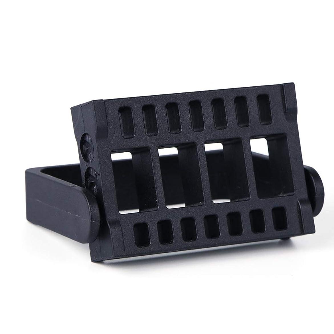落ちた牧師言い換えると1本16穴ネイルドリルビットホルダー展示スタンドディスプレイボックス電気ネイルファイルコンテナマニキュアツール