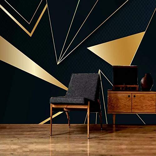 ZPDM 3D No Tejido o Vinile 15 tamaños Papel Pintado De La Pared Pelar y Pegar Mural - Triángulo de oro abstracto geométrico - Mural Pared Salonsudeste De Personalizada Mural Pintura Al Óleo Estar Pape