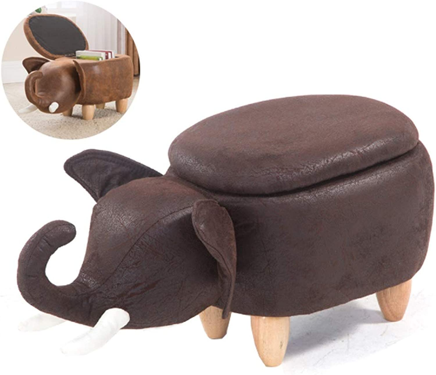 Bar stools Creative Elephant Stool(Footstool Stool Storage Changing shoes) Wooden Pedal Cute Home Animal Change shoes Stool Height Chair (color   Black)