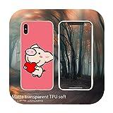 Funda blanda para iPhone 11 Pro 7 8 6 6s Plus XR XS Max Cover Bag 5 5S SE 2020 Etui Cases Cute Little Pink Pet Pig