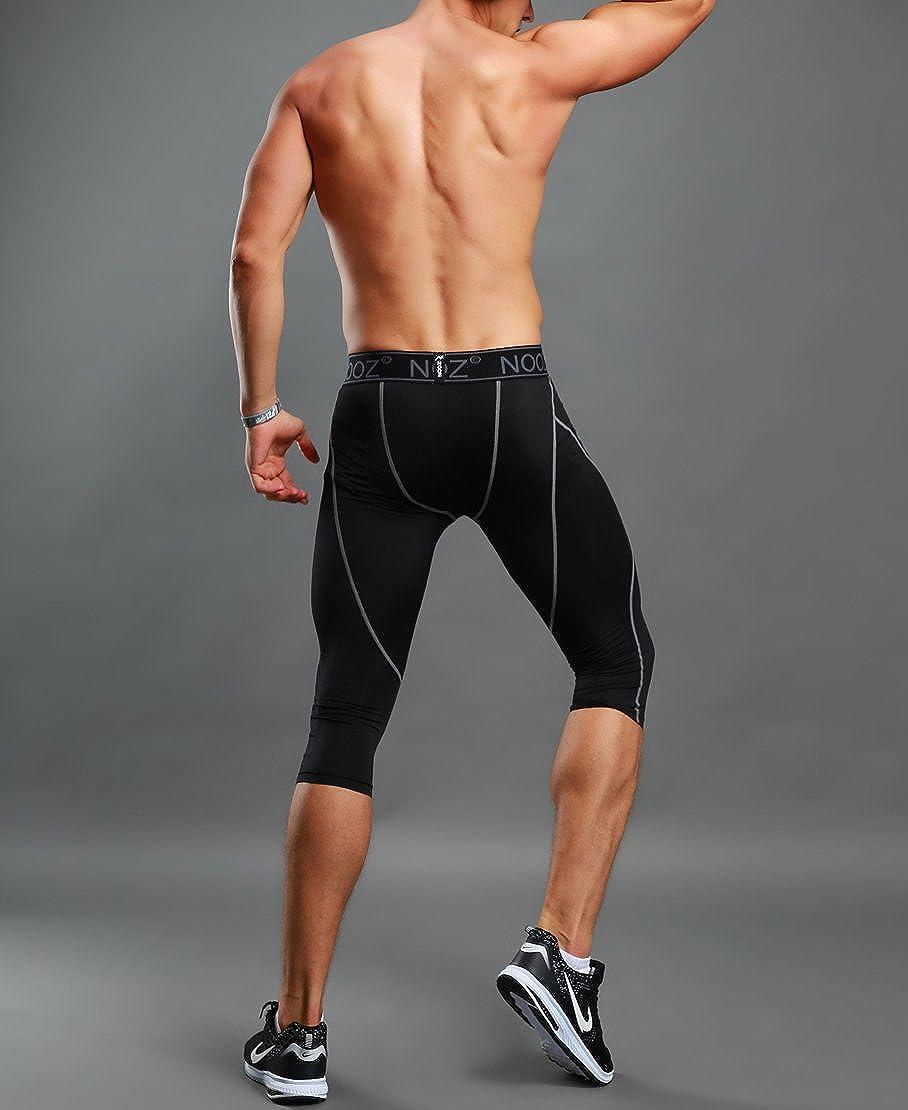 NOOZ Men/'s Pro Compression 3//4 Biking Running Short Tights Pants