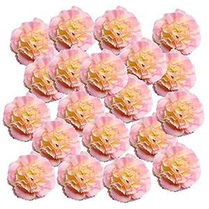 Silk Flower Arrangements Bonarty 20x Artificial Silk Azalea Flowers Head for Scrapbooking Flower Kiss Bow Wedding - Pink
