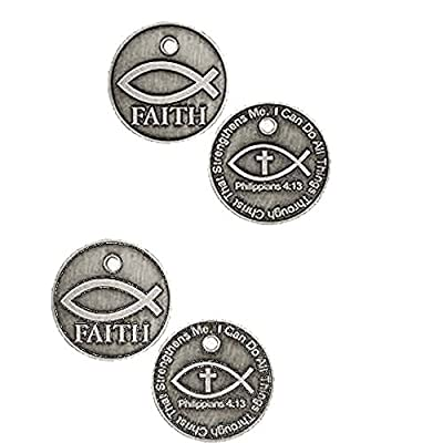 Sterling Gifts 3 All Things Through Christ Faith Jesus Fish Pocket Coins (Set of 3) from Sterling Gifts
