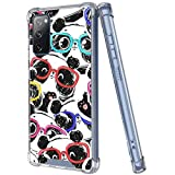 MOWIME Clear Case Compatible with Samsung Galaxy S20 FE Case Panda Abstract Painting 360 Full Body TPU+PC Protective Shockproof for Samsung Galaxy S20 FE - Clear
