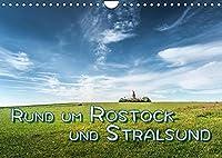 Rund um Rostock und Stralsund (Wandkalender 2022 DIN A4 quer): Bilder von Rostock, Stralsund und Umland (Monatskalender, 14 Seiten )