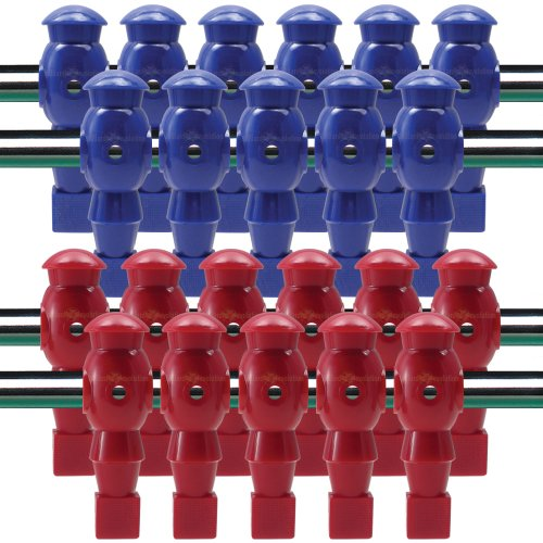 Billiard Evolution 22 Red and Blue Robotic Foosball Men