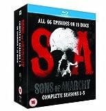 Sons Of Anarchy Seasons 1-5 (15 Blu-Ray) [Edizione: Regno Unito] [Reino Unido] [Blu-ray]