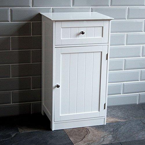 Bath Vida szafka łazienkowa 1 drzwi 1 szuflada stojąca szafka szafka schowek na szafę, biała