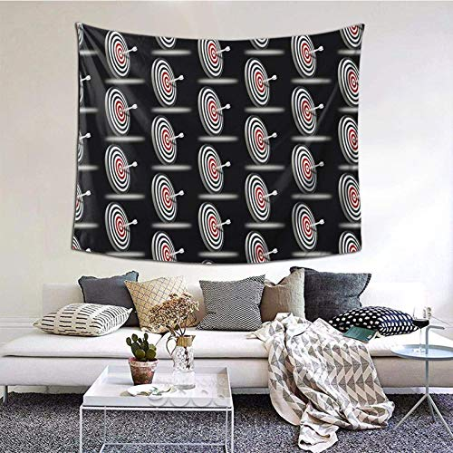 Hdadwy Dardos Tapiz Decorativo de Pared para Dormitorio, Sala de Estar, Dormitorio, decoración para Fiestas, 60 x 51 Pulgadas