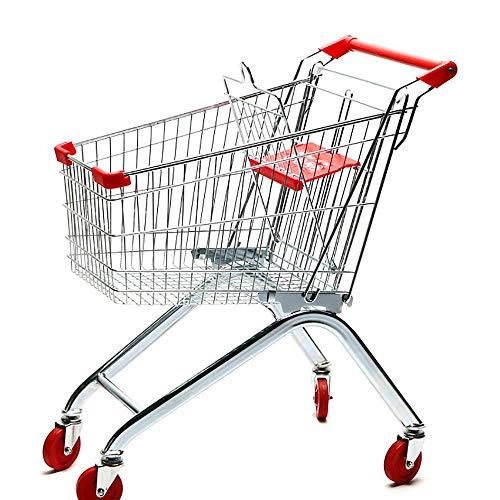 MILAYA JI Bin Shop® Supermercado Carrito De La Compra Almacén KTV Carrito Metal Carrito 60L / 80L / 100L * (Tamaño : 60L)