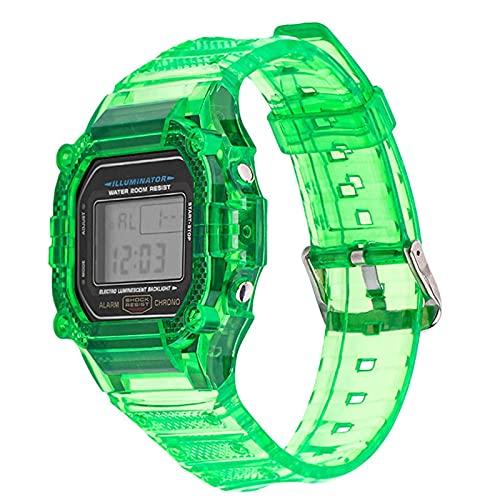 ZLRFCOK Correa de reloj de resina TPU para Casio G-Shock DW-5600 GW-M5610 M5600 GLX-5600 Refit pulsera de repuesto accesorios (color de la correa: esmeralda, ancho de la correa: 5600)