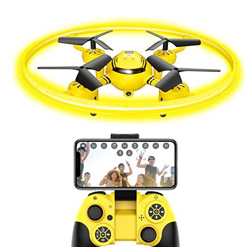 FPV Drone per bambini con trasmissione Live e luce notturna, quadricottero RC con altezza e sensore di gravitazione, drone giocattolo per bambini e principianti