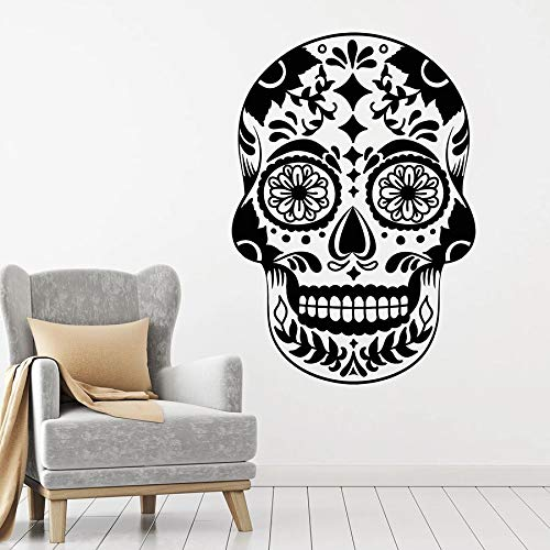Creatividad Pegatinas de pared Estilo de terror Símbolo de calavera Patrón de México Pegatinas de vinilo para ventanas Bar Fiesta Club Interior Arte decorativo Mural