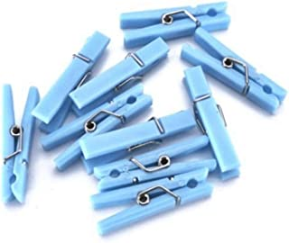 60 Baby Shower Clothespin Games (Blue)
