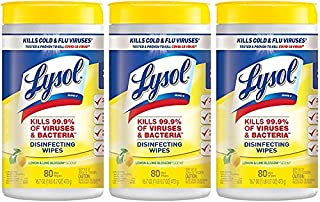 Lysol, Disinfecting Wipes, White, Lemon Lime, 80 Count (Pack of 3), 240 Count (B004S0DZ8W) | Amazon price tracker / tracking, Amazon price history charts, Amazon price watches, Amazon price drop alerts