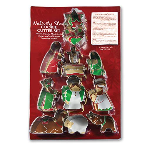 Nativity Story Set of 12 Stainless Steel Cookie Cutter Set
