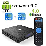 Android 9.0 TV Box,T9 Android Box with 4GB RAM 32GB ROM Quad-Core Cortex-A53