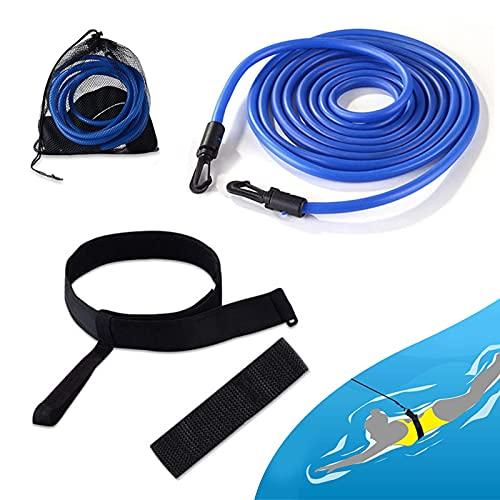 Cinture di Nuoto,Cintura Resistenza per Nuoto,Elastico Nuoto Piscina,Regolabile Allenamento Cintura da Elastico Nuoto Piscina,per Bambini/Adulti/Professionisti/Dilettanti (4M)